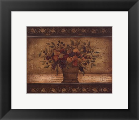 Framed Old World Abundance II Print