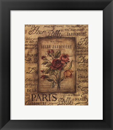 Framed Bel Bouquet I Print