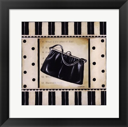 Framed Shopping II Print