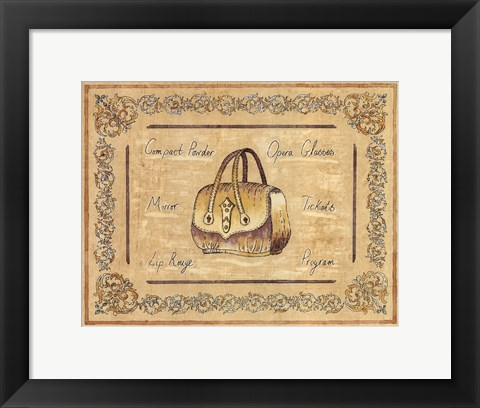 Framed Opera Purse Print