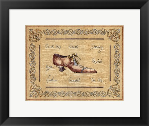 Framed Vogue Shoe Print