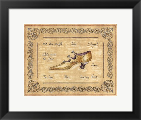 Framed Dancing Shoe Print