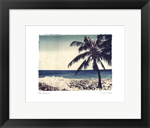 Framed Blue Horizon I Print