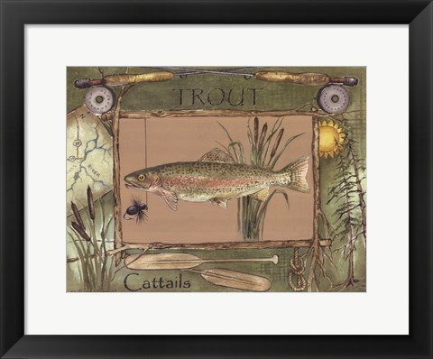 Framed Trout Print