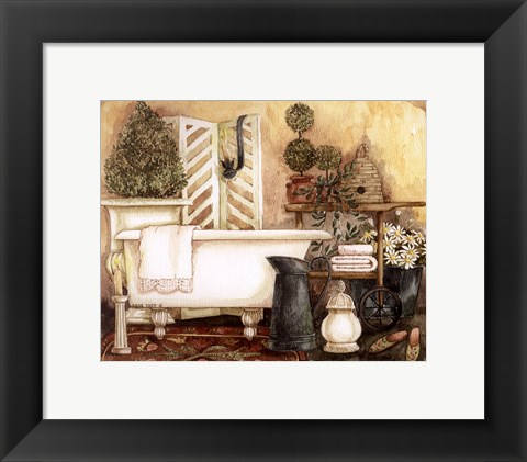 Framed Bathroom I Print
