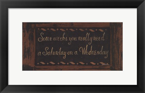 Framed Wednesday Print