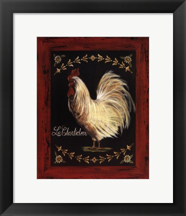 Framed Le Chanticleer Print