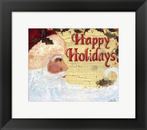 Framed Happy Holidays Print