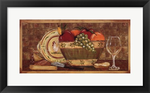 Framed Fruit Bowl Print
