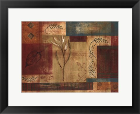 Framed Abstract Floral I Print
