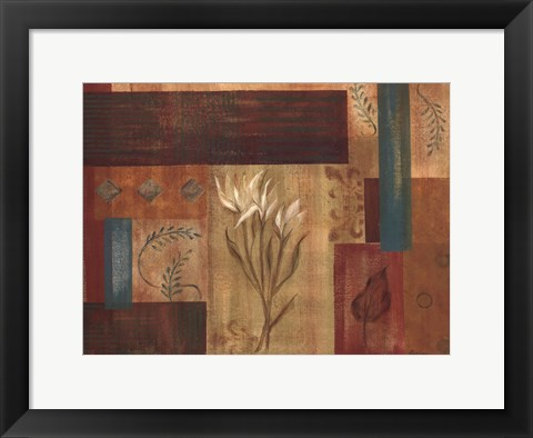 Framed Abstract Floral II Print