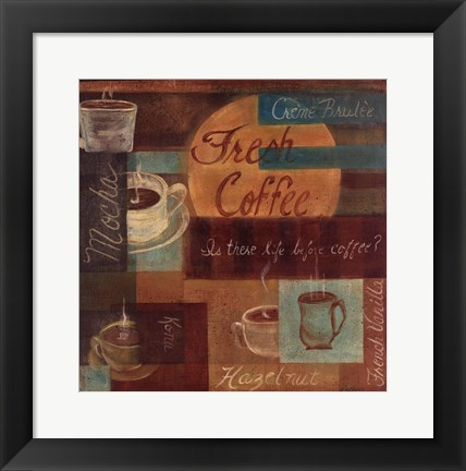 Framed Fresh Coffee II Print