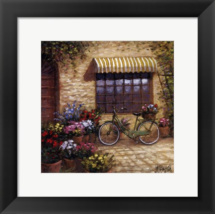 Framed Flower Peddler Print