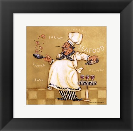 Framed Seafood Chef Print