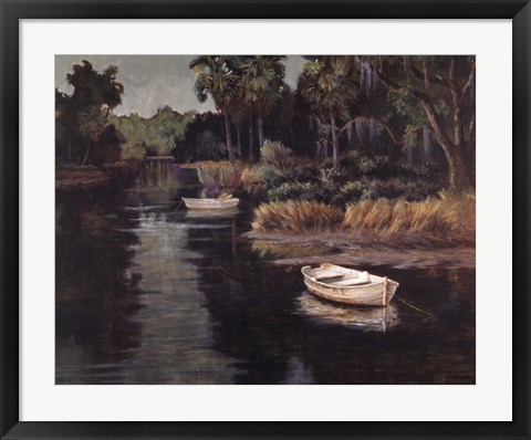 Framed River Retreat Print
