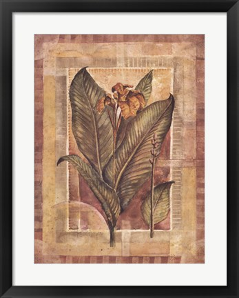 Framed Tropical Splendor I Print