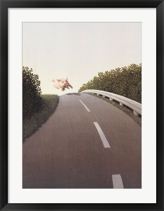 Framed Highway Pig Print