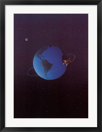 Framed Satellite Pig Print