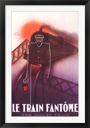 Framed Train Fantome Print