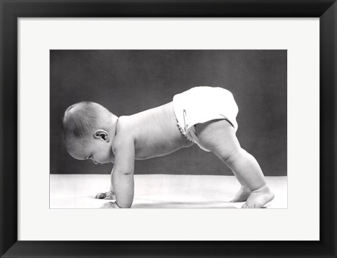 Framed Push Ups Print