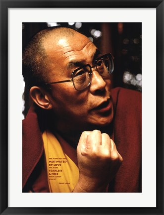 Framed Dalai Lama-Love and Compassion Print