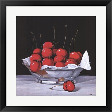 Framed Cherry Bowl Print