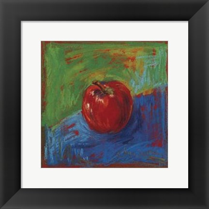 Framed Red Apple Print