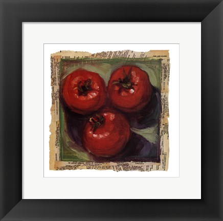 Framed Three Tomatoes Print