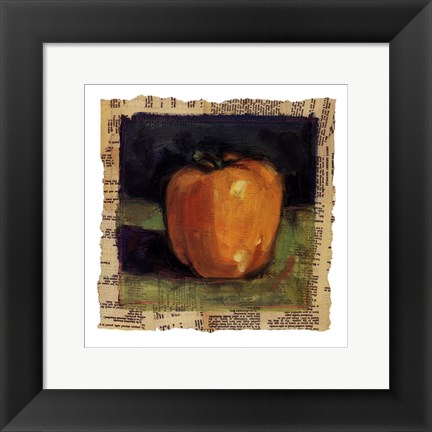 Framed Yellow Pepper Print