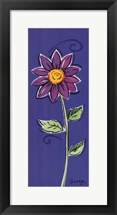 Framed Purple Daisy Print