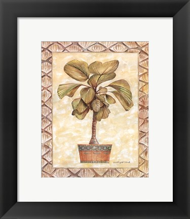 Framed Palm Tree I Print