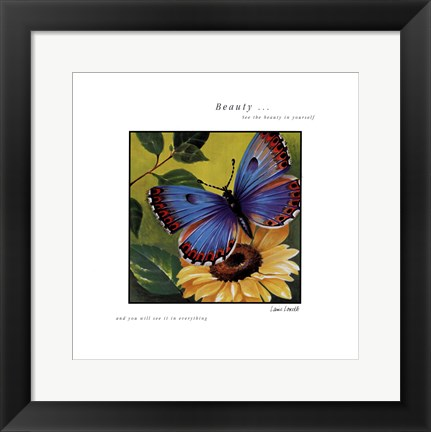 Framed Beauty Print