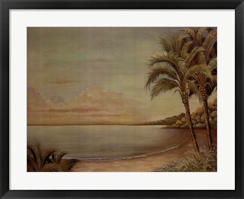 Framed Sunset Beach II Print
