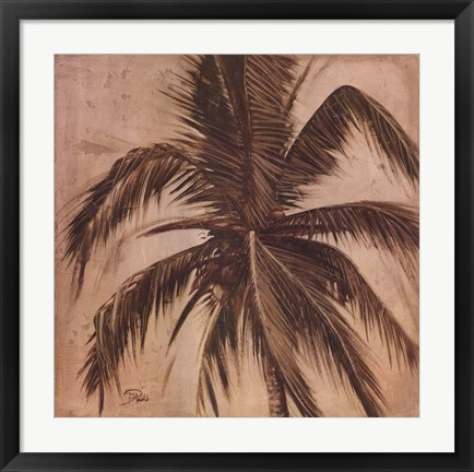 Framed Sepia Palm III Print