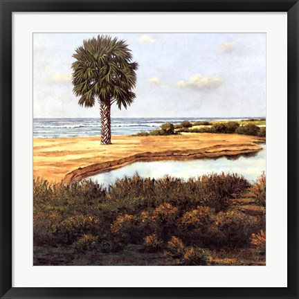 Framed Low Country Beach I Print