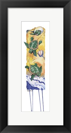 Framed Hatching Turtles Print