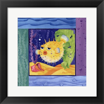 Framed Seafriends-Blowfish Print
