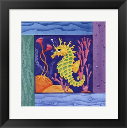 Framed Seafriends-Seahorse Print