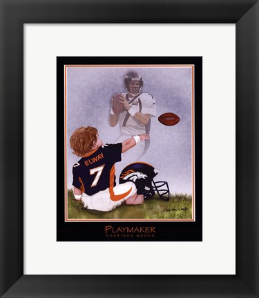 Framed Playmaker Print