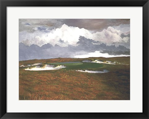 Framed Passing Weather, 17th at Sand Hills Print