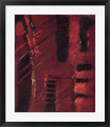 Framed Red Mirage II Print