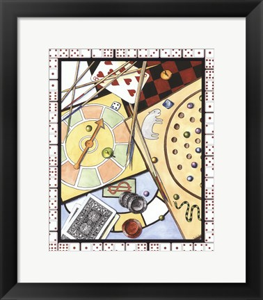 Framed Games Galore II Print