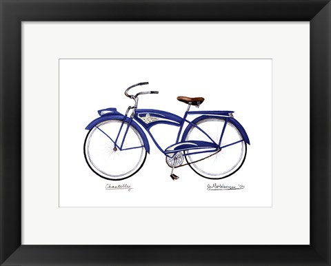 Framed Blue Chantilly Print