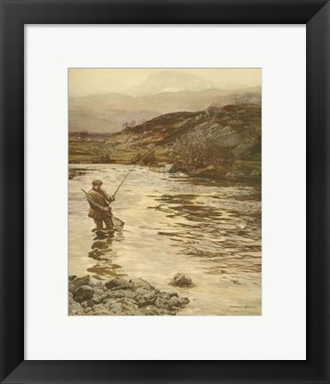 Framed Trout Fishing Print