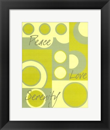 Framed Circle of Love I Print