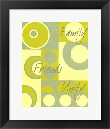 Framed Circle of Friends I Print