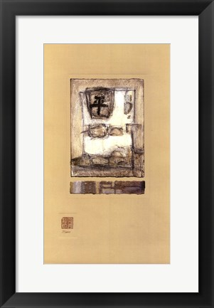 Framed Chinese Series - Peace I Print