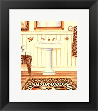 Framed Safari Bath (D) Print