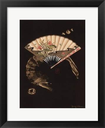 Framed Oriental Fan II Print