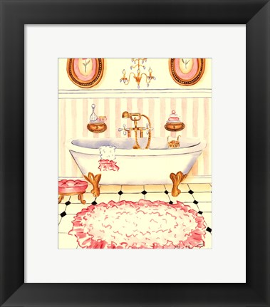 Framed Chic Bath II Print